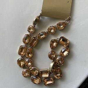 🔥NWT JCrew Crystal JewelBox Style Necklace